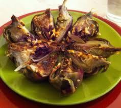 cuisiner les artichauts violets poêlée d artichauts à l ail on my kitchen