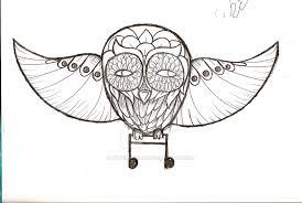 music owl tattoo sketch by negerbollen on deviantart
