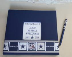 funeral guest sign in book football guestbook etsy