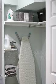 Laundry Room Shelves And Storage by Remodelaholic Small Laundry Room Makeover