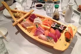 sato japanese cuisine photo sushi boat from sato restaurant waltham ma boston s