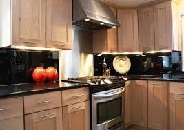 Black Mirror Backsplash Contemporary Kitchen Providence By - Mirror backsplash