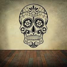 dia de los muertos home decor awoomexican sugar skull office stickers dia de los muertos vinyl