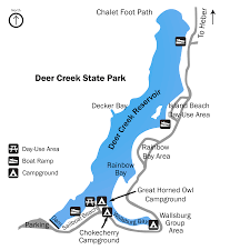Midway Utah Map by Deer Creek Reservoir