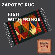 Zapotec Rugs Second Life Marketplace Native Indian Zapotec Rug Fish With Fringe