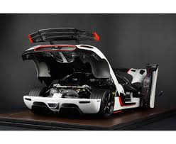 koenigsegg one red agera one 1 white with red stripe full open limited 50 pcs by