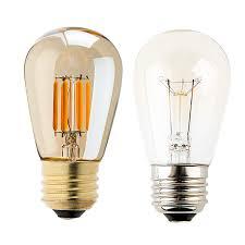 led vintage light bulb s14 led sign bulb w gold tint 25 watt