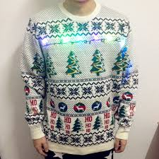christmas tree sweater with lights print sweaters lights up ugly christmas jumper s xxl with xmas tree