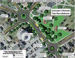 Traffic Map Portland by Roundabouts Eyed To Ease Portland Traffic Flow Portland Press Herald
