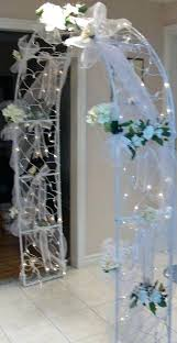 wedding arches using tulle wedding arch decorated with tulle idea to decorate the ideas