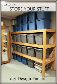 how to make storage shelves to organize your attic garage