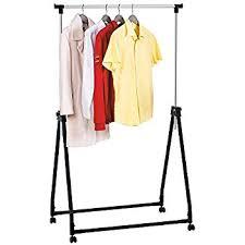 amazon com collapsible folding rolling clothing garment rack