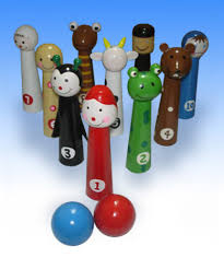 passover toys plaugues bowling pin destroyer