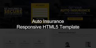 jr auto insurance landing page responsive html5 template
