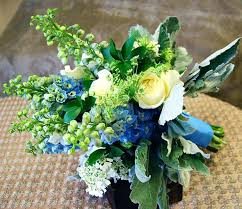 Wedding Flowers Blue And White Blue And White Bouquets For Weddings Blue And Green Wedding