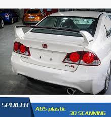 honda civic spoiler brake light for honda fd2 civic spoiler abs material car rear wing primer color