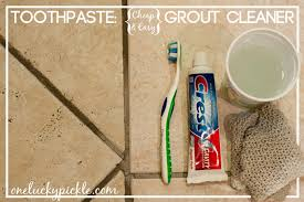 one lucky pickle use toothpaste to clean your grout