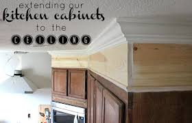 Kitchen Molding Ideas by Wonderfully Made Extending Kitchen Cabinets To The Ceiling