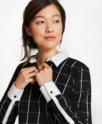 black blouse with white collar s blouses tunics tops and shirts brothers