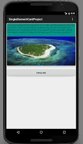 imageview android android card view tutorial imageview textview button