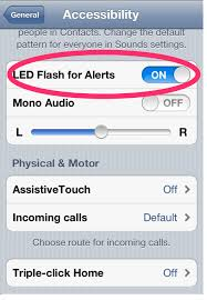 turn light on iphone how to turn on flashing notifications on your iphone sharechair