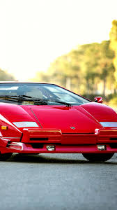 lamborghini front view hd background lamborghini countach bertone 1990 red front view