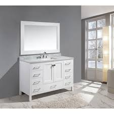 single sink vanity with drawers design element london 54 single sink vanity set white free