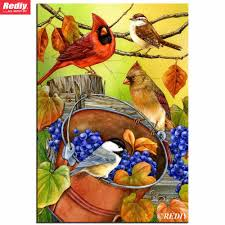 Blue Bird Home Decor 5d Diamond Embroidery Diy Diamond Painting Birds With Grapes