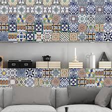 kitchen backsplash decals portuguese tiles stickers amadora pack of 36 tile decals
