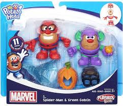 Potato Head Kit Disguise Marvel Playskool Friends Spider Man Green Goblin Potato Head