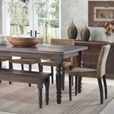 Country Dining Table With Bench Dining Rooms - Country style kitchen tables
