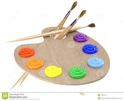 Paint Pallet by Paint Brushes Colors And Pallet Stock Image Image 22225341