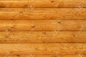Log Home Interior Walls by Wooden Wall From Logs In Decline Beams Stock Photo Picture And