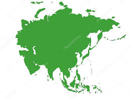 Asia On Map by Map Of Asia U2014 Stock Photo Njaj 6594199