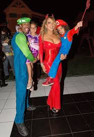 mariah carey sizzles in devil costume at her annual halloween