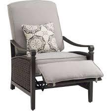 Reclining Patio Chair Reclining Patio Chair With Ottoman