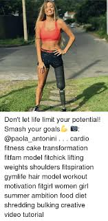 Woman Lifting Weights Meme - harmour don t let life limit your potential smash your goals