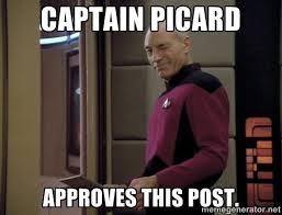 Capt Picard Meme - cptn picard captain picard approves this post memes pinterest