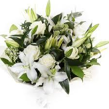 white lilies white lilies roses midsomer norton florist