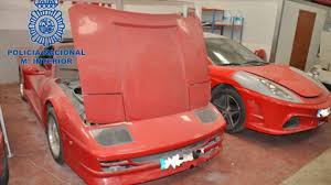 fake ferrari for sale spanish police break up counterfeit supercar ring building fake