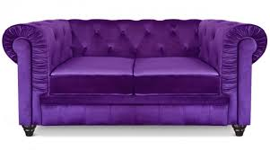 canapé chesterfield velours canapé chesterfield 2 places velours violet lestendances fr