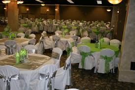 green quinceanera decorations chair covers with silver and lime