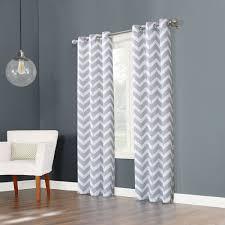 big one chevron window curtain set