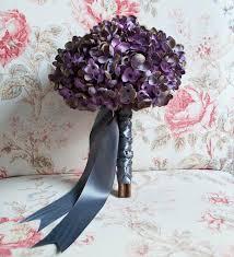 Hydrangea Wedding Lavender And Gray Hydrangea Wedding Bouquet