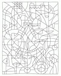 difficult color by number printables kids coloring