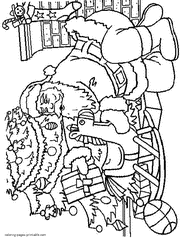 coloring page of christmas tree with presents christmas tree coloring pages