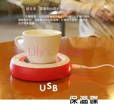 electro thermal cup warmer tea milk coffee cup coaster plate
