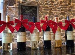 wine bottle bows wine bottles with bows barn cellars winery