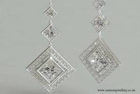 diamond earrings nz antique style princess cut deco pendant earrings new zealand