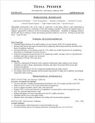 Resume Template Executive Assistant Resume Examples No Experience Posts Related To Sample